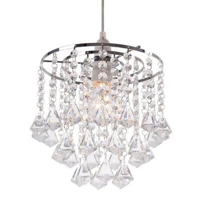 Home collection fiona crystal glass easyfit ceiling shade debenhams aloadofball Choice Image