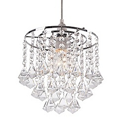 Home Collection - Fiona Crystal Glass Easyfit Ceiling Shade
