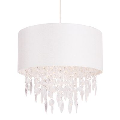 Home collection athena white easyfit ceiling shade debenhams