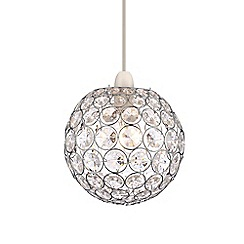 Home Collection - Kayla Crystal Glass Ball Easyfit Ceiling Shade