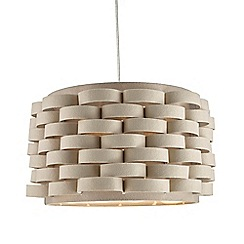 Home Collection - Emmett Cream Fabric Easyfit Ceiling Shade