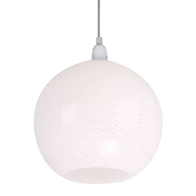 Home collection swirl white glass easyfit ceiling shade debenhams