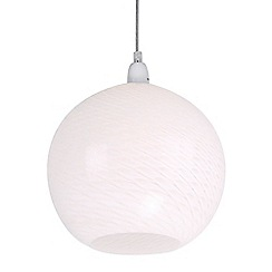 Home Collection - Swirl White Glass Easyfit Ceiling Shade