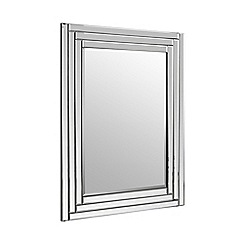Home Collection - Rectangular ribbed frame wall mirror