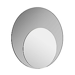 Home Collection - Round two tone wall mirror