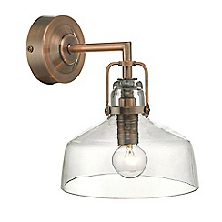 Home Collection - Antique copper 'Miles' wall light
