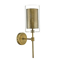 Home Collection - Aged brass 'Dano' wall light