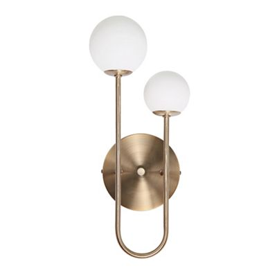 Home Collection   Metal And Glass 'apollo' Wall Light by Home Collection