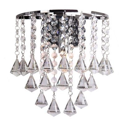 Home collection fiona crystal glass wall light