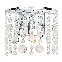 Home Collection - Alyssa Crystal Glass Wall Light