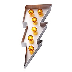 Home Collection - Lightening Bolt Marquee Metal Wall Light