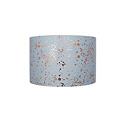Home Collection - Blue and gold foil splatter print lamp shade
