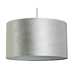 Home Collection - Large velvet grey lamp shade