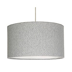 Home Collection - Large grey quilted lamp shade