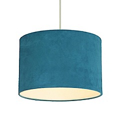 Home Collection - Faux suede teal lamp shade