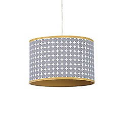 Home Collection - Grey spot print cotton lamp shade