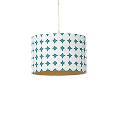Home Collection - White and teal cotton lamp shade