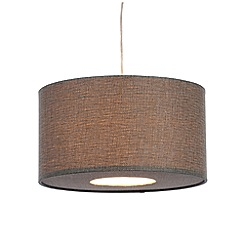 Home Collection - Grey upholstery weave lamp shade