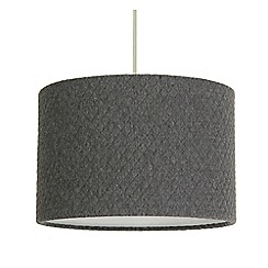 Home Collection Small Grey Quilted Lamp Shade