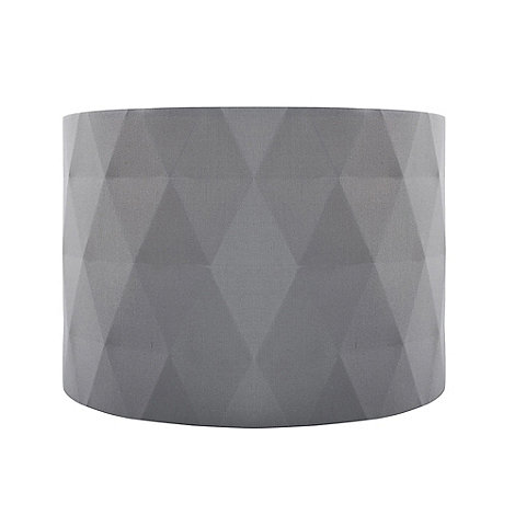 Home collection grey diamond pleated lamp shade debenhams