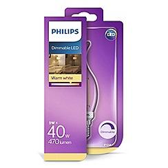 Philips - 40W E14 small Edison screw SES LED candle bulb