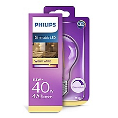 Philips - 40W E27 Edison screw ES LED bulb