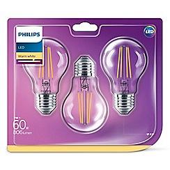 Philips - 60W LED e27 gls 3 pack