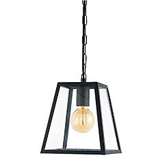 Zinc - Metal and glass pendant ceiling light