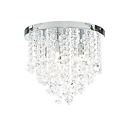 Home Collection - Large crystal 'Waterfall' flush ceiling light