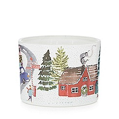 Debenhams - Multicoloured town scene print Christmas candle