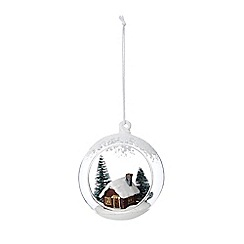 Debenhams - White open front house bauble