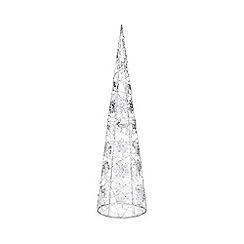 Debenhams - Silver glitter light up wire tree ornament