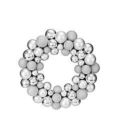 Debenhams - Silver bauble wreath