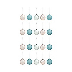 Debenhams - Pack of 20 multicoloured shatterproof baubles