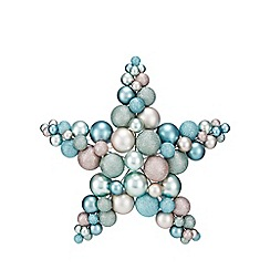 Debenhams - Multicoloured bauble star Christmas wreath
