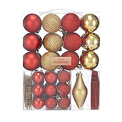 Debenhams - Pack of 65 multicoloured Christmas tree decorations