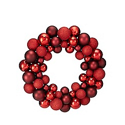 Debenhams - Red bauble wreath