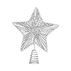 Debenhams - Silver sequined tree topper