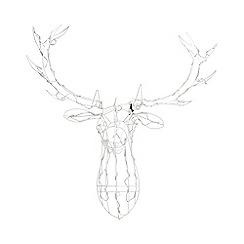 Noma - White LED Stag Head