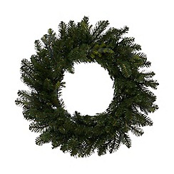 Noma - Green Pre-Lit Festive Fir Wreath