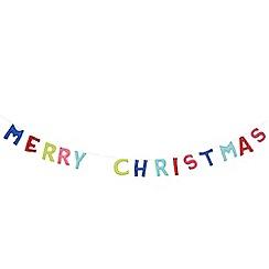 Debenhams - Multicoloured 'Merry Christmas' garland