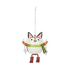 Debenhams - Orange skiing fox Christmas tree decoration