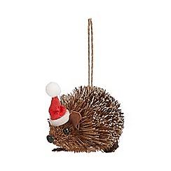 Debenhams - Brown hedgehog tree decoration