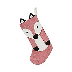 Debenhams - Red fox Christmas stocking
