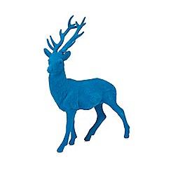Debenhams - Blue stag ornament
