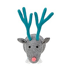 Debenhams - Grey reindeer head