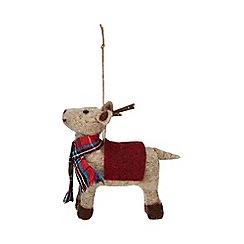 Debenhams - Multicoloured wool reindeer ornament