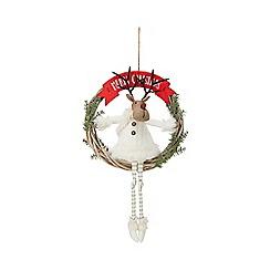 Debenhams - Multicoloured reindeer wreath
