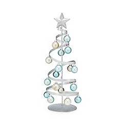 Debenhams - Silver glitter Christmas tree ornament