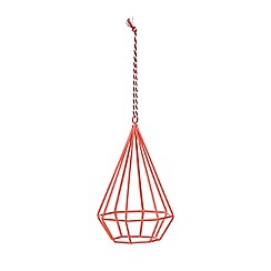 Debenhams - Pink wire diamond decoration